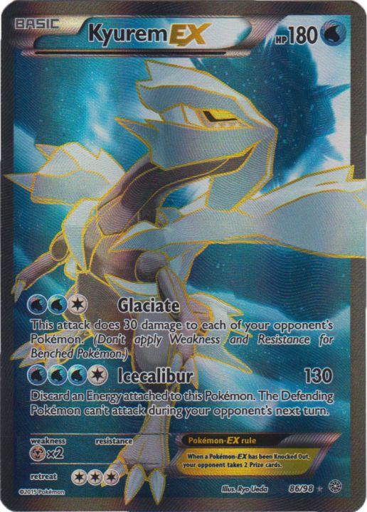 Kyurem ex 86 98 full art ultra rare pokemon singles - Kyurem blanc ex full art ...