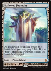 Hallowed Fountain - Foil (Zendikar Expedition: Battle for Zendikar Lands)