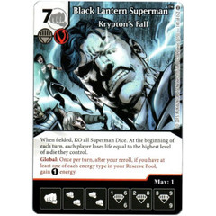 Black Lantern Superman - Krypton's Fall (Die & Card Combo)