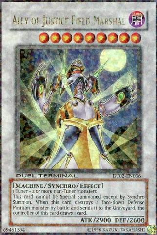 Ally of Justice Field Marshal - DT02-EN036 - Ultra Parallel Rare - Duel Terminal