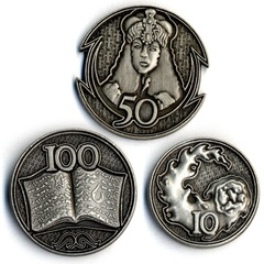 GameMastery Campaign Coins: Silver (10, 50, 100)