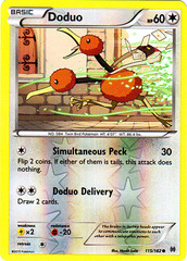 Doduo - 115/162 - Common - Reverse Holo