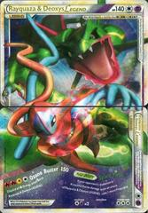 Rayquaza & Deoxys LEGEND (Both Halves) - 89+90/90 - Rare Holo Legend