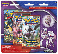 XY BREAKthrough 3-Pack Blister - Mega Mewtwo Y Pin