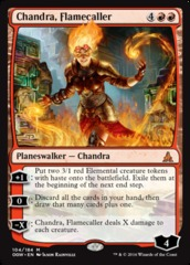 Chandra, Flamecaller - Foil on Channel Fireball