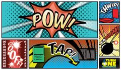 Retro Comic Book Playmat