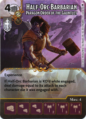 Half-Orc Barbarian - Paragon Order of the Gauntlet (Card Only)