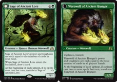 Sage of Ancient Lore // Werewolf of Ancient Hunger - Foil