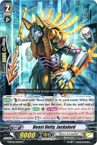 Beast Deity, Jackalord - G-BT06/067EN - C