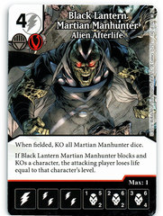 Black Lantern Martian Manhunter - Alien Afterlife (Die & Card Combo)