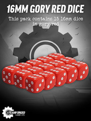 16mm Gory Red Dice x15