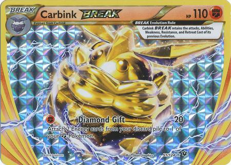 Carbink BREAK - 51/124 - Rare BREAK