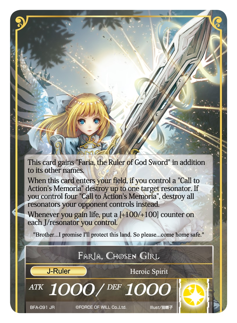 Memoria of the Seven Lands // Faria, Chosen Girl - BFA-091 - R - Full Art