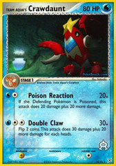 Team Aqua's Crawdaunt - 14/95 - Rare
