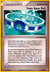 Team Aqua Belt - 76/95 - Uncommon