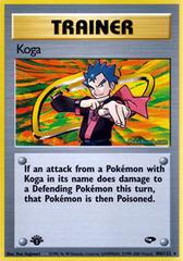 Koga - 106/132 - Holo Rare - 1st Edition