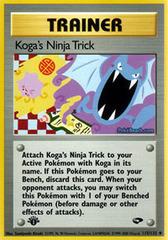 Koga's Ninja Trick - 115/132 - Uncommon - 1st Edition