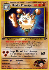 Brock's Primeape - 35/132 - Uncommon - 1st Edition
