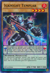Igknight Templar - MP16-EN066 - Ultra Rare - 1st Edition