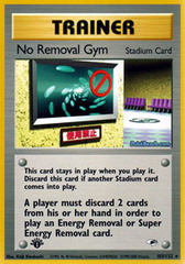 No Removal Gym - 103/132 - Rare - 1st Edition