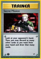 Secret Mission - 118/132 - Uncommon - 1st Edition