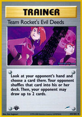 Team Rocket's Evil Deeds - 103/105 - Uncommon - 1st Edition