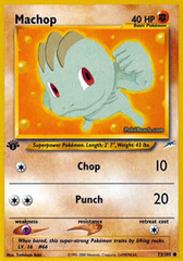Machop - 73/105 - Common - 1st Edition