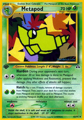 Metapod - 42/75 - Uncommon - 1st Edition