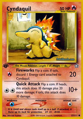 Cyndaquil - 57/111 - Common - 1st Edition
