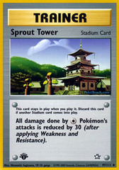 Sprout Tower - 97/111 - Uncommon - 1st Edition