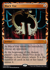 Black Vise (Masterpiece Foil) on Channel Fireball