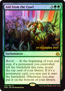 Aid from the Cowl (Aether Revolt Prerelease Foil)