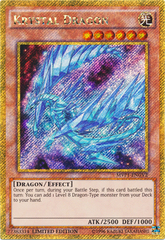 Krystal Dragon - MVP1-ENGV2 - Gold Secret Rare - Limited Edition