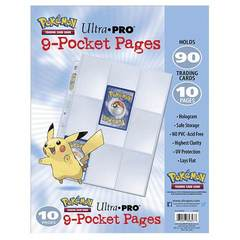 Ultra Pro - Pokemon: Trading Card Game Ultra Pro 9-Pocket Pages - Pack of 10