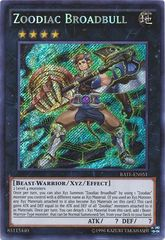 Zoodiac Broadbull - RATE-EN051 - Secret Rare - Unlimited Edition