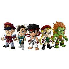 Street Fighter: Lil' Knockouts Mini Figure - 12Ct Display