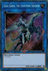 Gaia Saber, the Lightning Shadow - COTD-EN051 - Secret Rare - 1st Edition