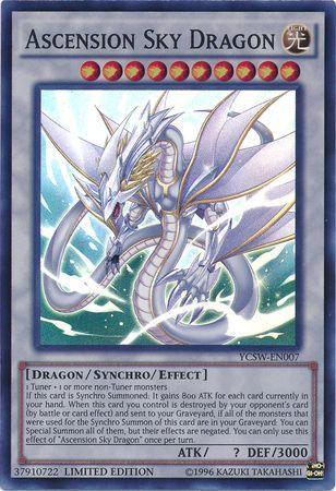 Ascension Sky Dragon - YCSW-EN007 - Super Rare - Limited Edition