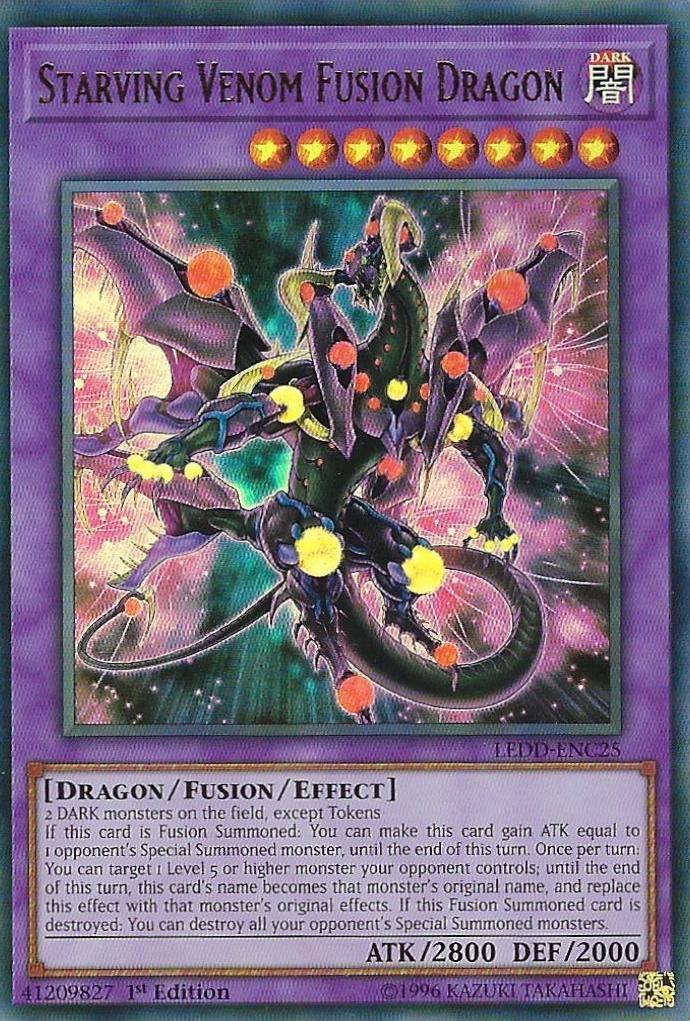 Starving Venom Fusion Dragon - LEDD-ENC25 - Ultra Rare - 1st Edition