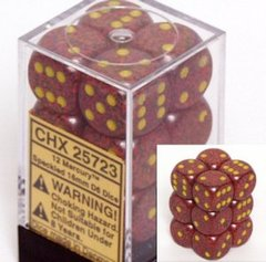 12 Mercury Speckled 16mm D6 Dice Block - CHX25723