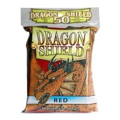 Dragon Shield 50 Count Yugioh Sized Sleeves - Red
