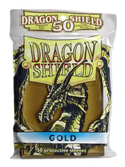Dragon Shield 50 Count Yugioh Sized Sleeves - Gold