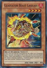Gladiator Beast Laquari - TU05-EN002 - Super Rare - Promo Edition