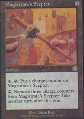 Magistrate's Scepter - Foil on Channel Fireball