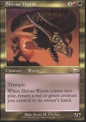 Shivan Wurm - Foil on Channel Fireball