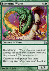Battering Wurm - Foil on Channel Fireball