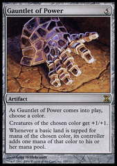 Gauntlet of Power - Foil on Channel Fireball