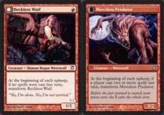 Reckless Waif // Merciless Predator - Foil