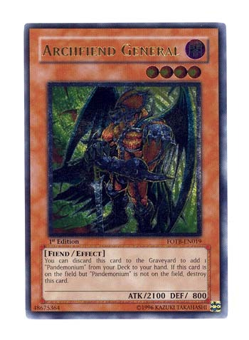 Archfiend General - FOTB-EN019 - Ultimate Rare - Unlimited Edition