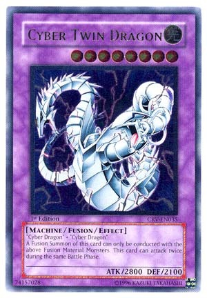 Cyber Twin Dragon - CRV-EN035 - Ultimate Rare - Unlimited ...